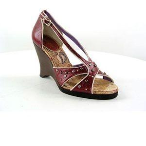 Kenzie Leather Hanya Wedge Heels Size 8.5 M